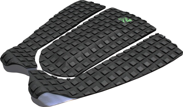 The Lunasurf 3 piece tail pad in black with square groove