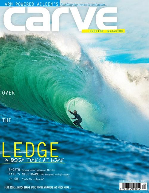 Cain slotted on the cover of Carve, click the shot to see his ambassador page.